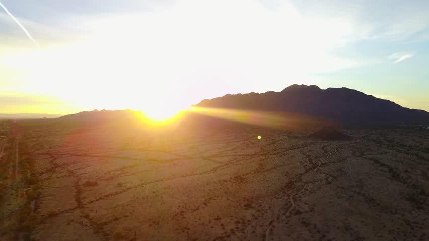 Desert landscape cactus aerial  | Shutterstock HD Video #27480115