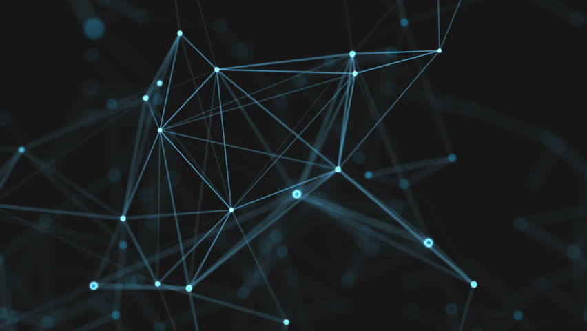 Abstract beautiful geometric background with moving lines, dots and triangles. Plexus fantasy abstract technology. Loop animations. Royalty-Free Stock Footage #27480184