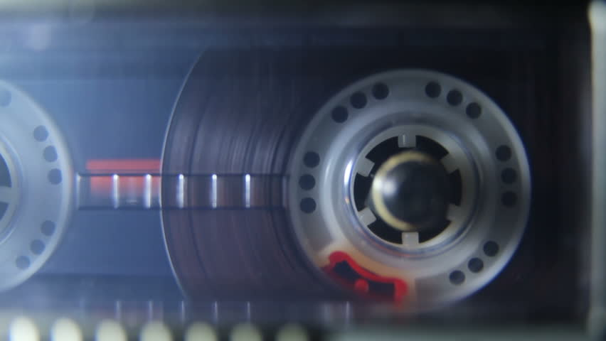 Closeup of turning tape in recorder | Shutterstock HD Video #27480910