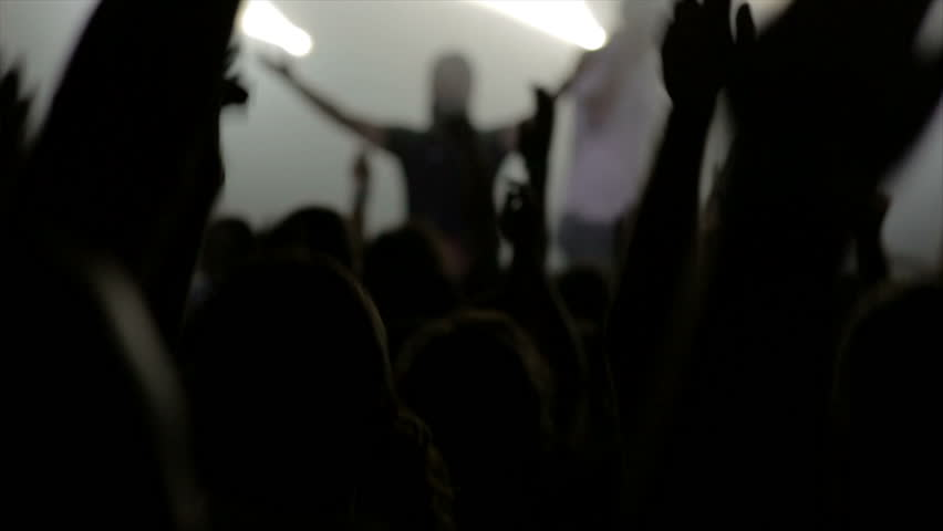 Footage of a crowd partying at a rock concert or dj party  | Shutterstock HD Video #27495847