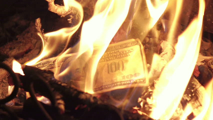 High quality video of burning money in real 1080p slow motion 250fps | Shutterstock HD Video #27527815
