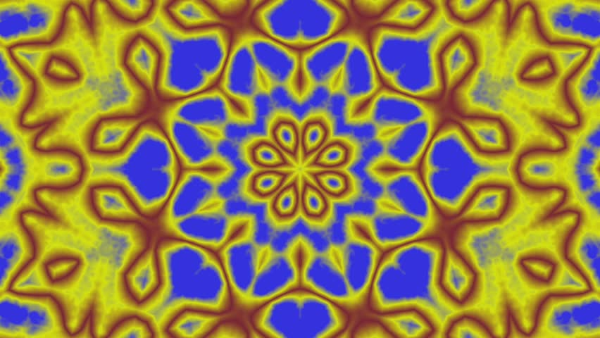 Seamless looping animated kaleidoscopic motion background with colorful stars. | Shutterstock HD Video #27529117