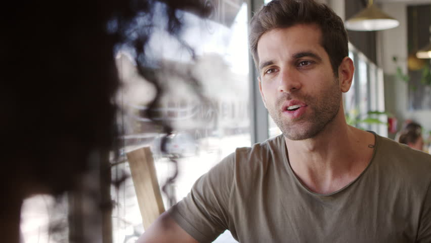 Couple Meeting For Date In Coffee Shop Shot In Slow Motion | Shutterstock HD Video #27548374
