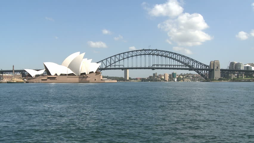 SYDNEY, AUSTRALIA, MAR 22, 2009: Sydney Opera and Harbour Bridge at daytime