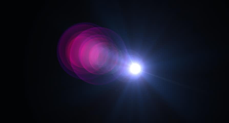 cinema lens flare  for transition #27574171