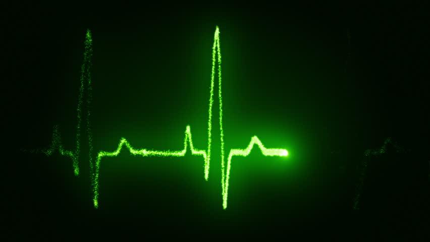 Heart beat pulse in green