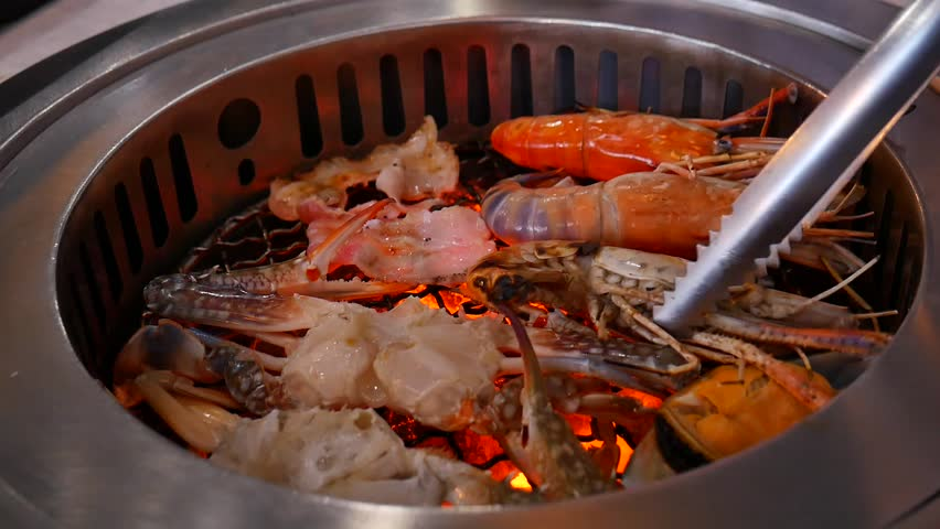 Seafood Grill   Shutterstock HD Video #27594565