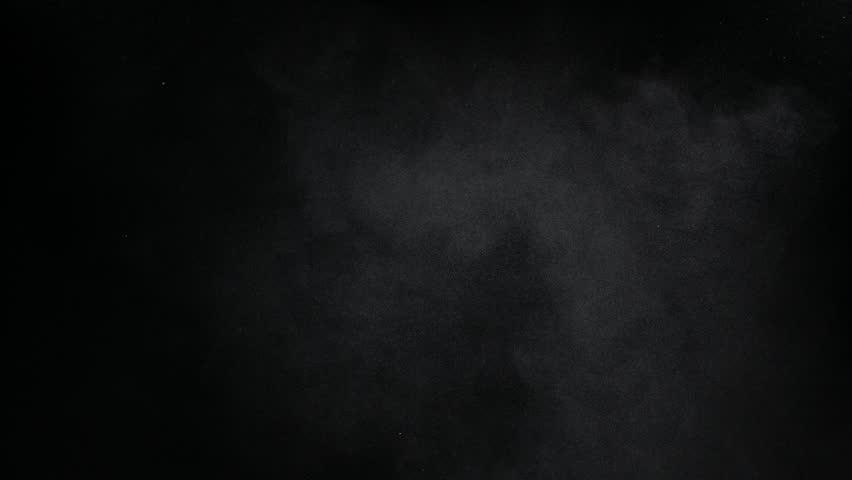 Subtle dust cloud element against black BG