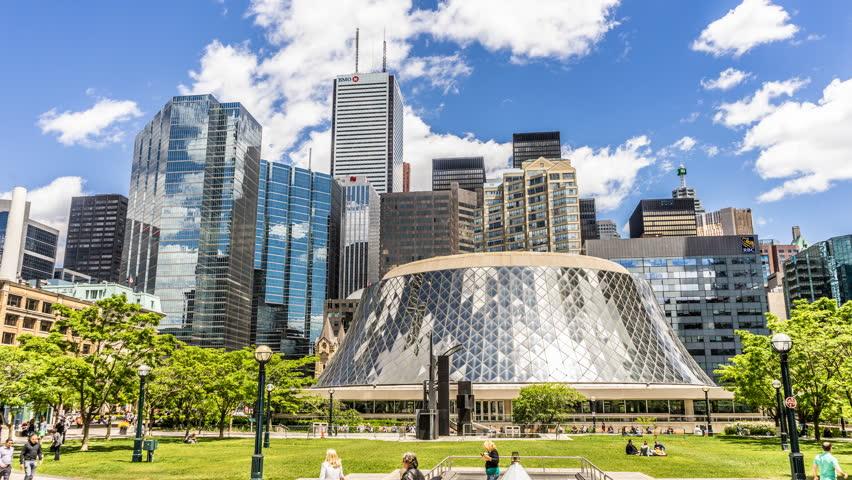 City Park Skyline Downtown Toronto