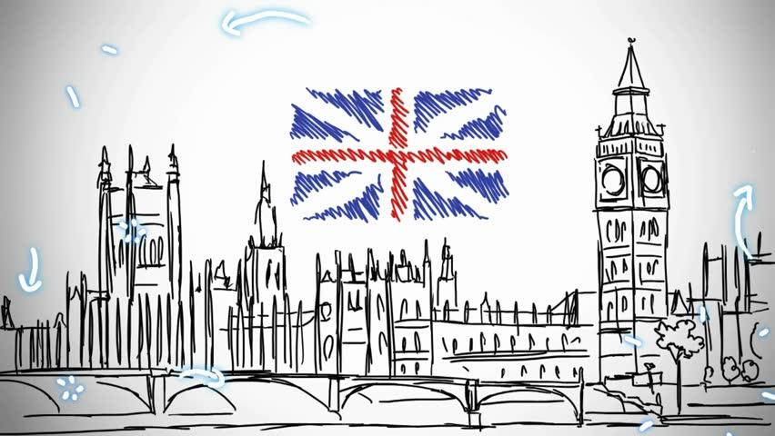 лондон рисунки легкие главные интересные достопримечательности