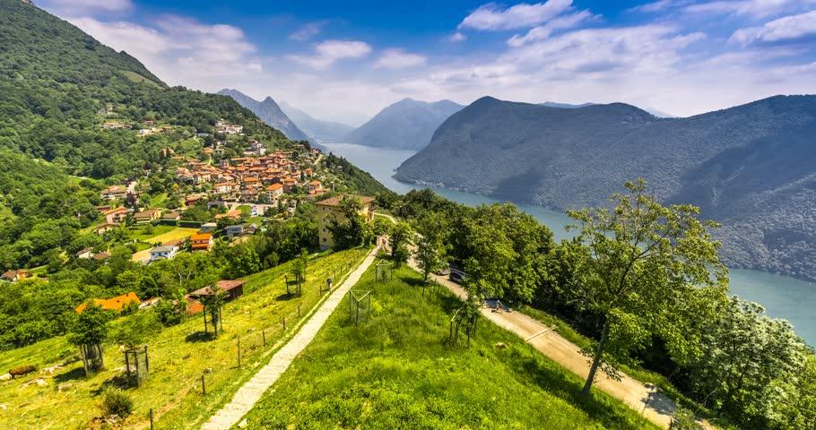 View to Lugano City, Lugano Stock Footage Video (100% Royalty-free)  27655408 | Shutterstock
