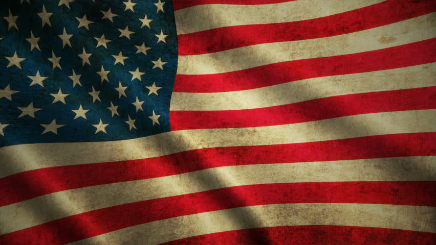 USA Flag waving in the wind . detailed fabric texture. Seamless loopable Animation. 4K High Definition Video. 3d illlustration Royalty-Free Stock Footage #27656821