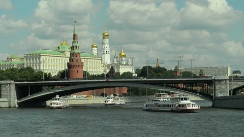 10.08.2016 Moscow. View of the Kremlin and the city centre.