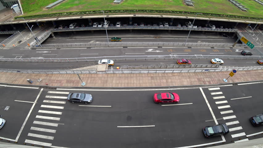 Aerial view of cars driving on the multiple lanes,Beijing,China  | Shutterstock HD Video #27696493