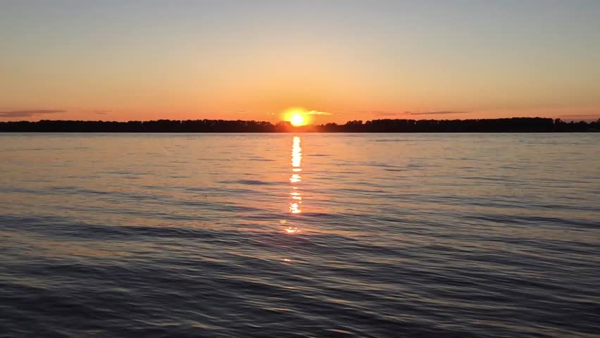 Sunset at the river Timelapse   Shutterstock HD Video #27716434
