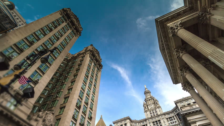 Manhattan Municipal Building in New York City - Beautiful Timelapse in NYC, USA