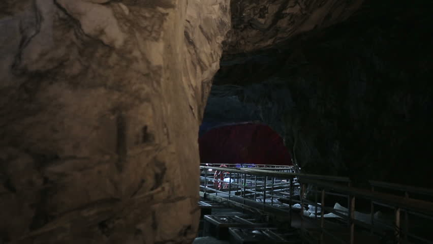 The panton way on the underground lake in the marble cave | Shutterstock HD Video #27731515