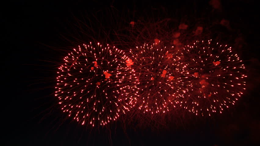 Fireworks in the night sky in honor of the holiday | Shutterstock HD Video #27740647