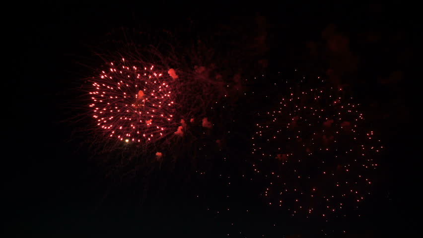 Fireworks in the night sky in honor of the holiday | Shutterstock HD Video #27740653