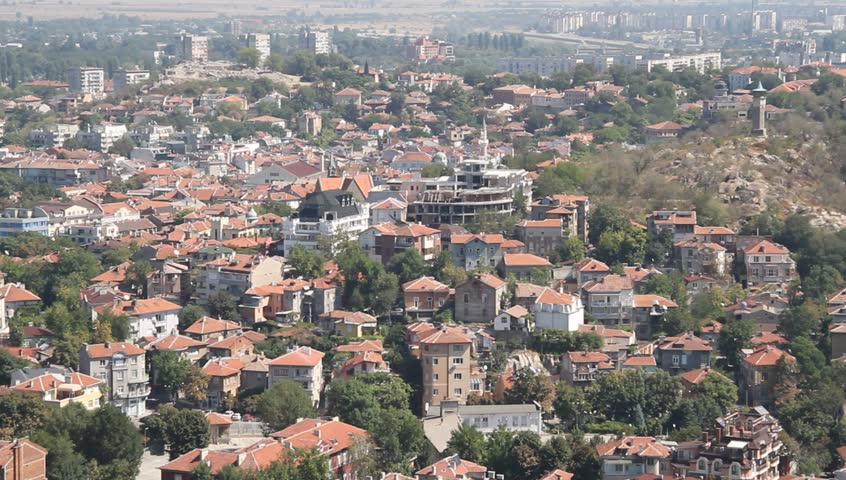 View on the Plovdiv, Bulgaria