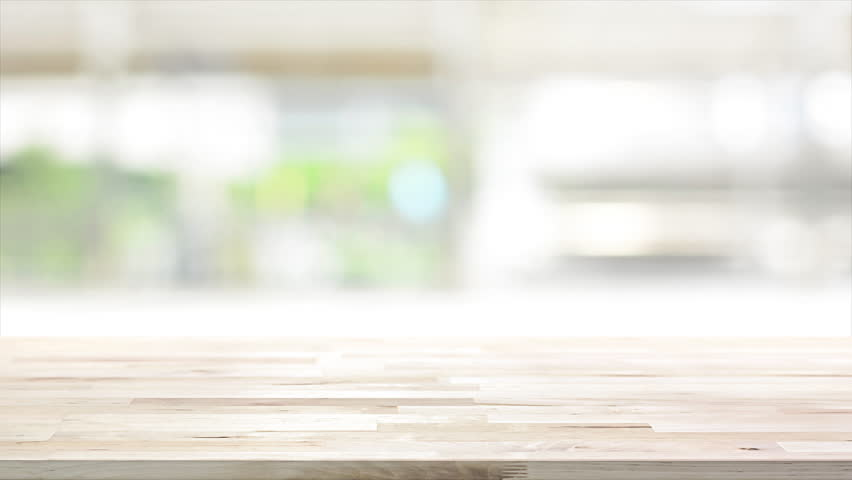 Wood Table Top On Blur Stock Footage Video 100 Royalty ...