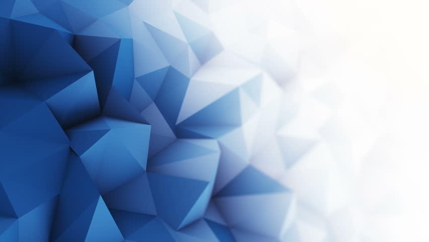 Blue white low poly surface. Computer generated seamless loop abstract motion background. Smooth 3D animation 4k UHD (3840x2160)