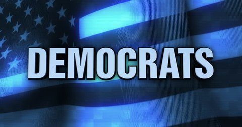 Ominous Political Statement Typography - Democrats