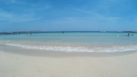 AYIA NAPA, CYPRUS Beautiful beach with white sand and crystal clear water.