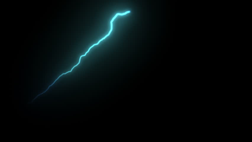 Single Forking Thunder strikes. Bouncing lightning. Realistic physics. Usable in different blending modes.  #27830383