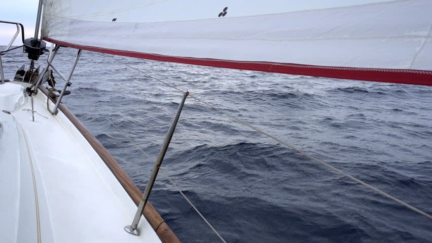 Yacht sailing over sea surface #27831640