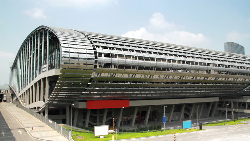 GUANGZHOU - CIRCA 2011: Canton Fair Exhibition Grounds - The Canton Fair(China Import and Export Fair) is a trade fair held in the spring and autumn seasons each year since the spring of 1957 in Canton Guangzhou, China.