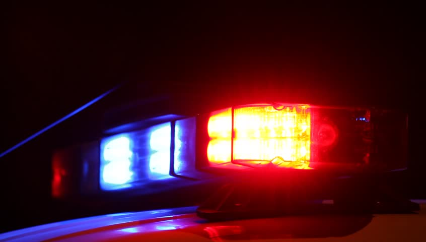Red and blue emergency lights of police car. Night outdoor shot.  | Shutterstock HD Video #2788936