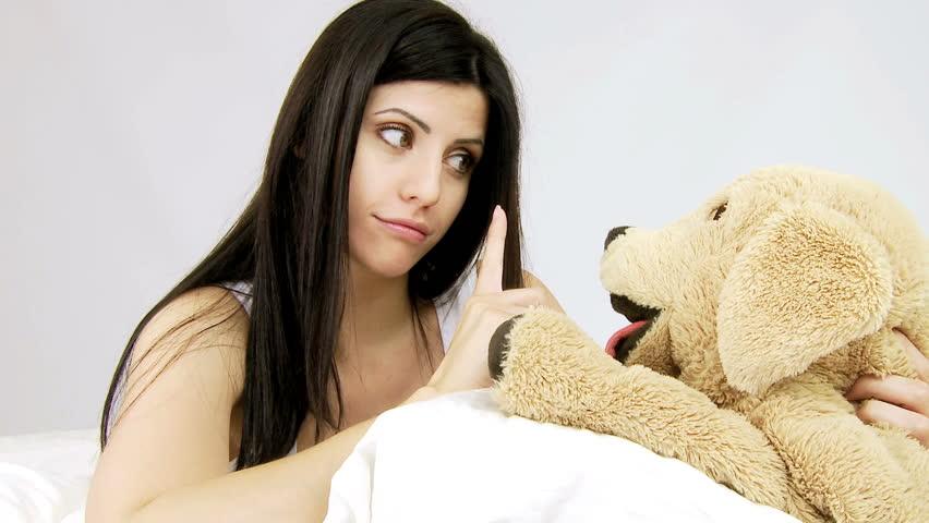Porno photo naked girl stuffed bear