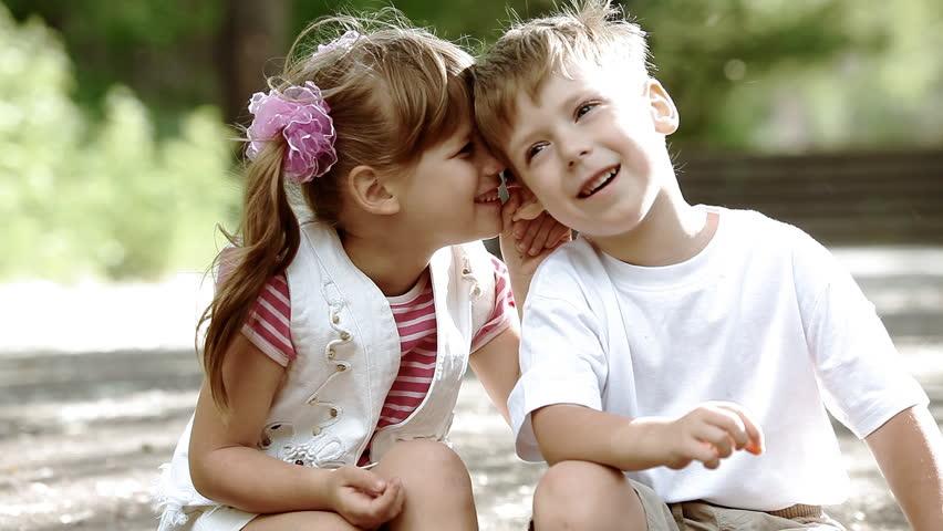 Two children having fun in park, outdoors | Shutterstock HD Video #2791558