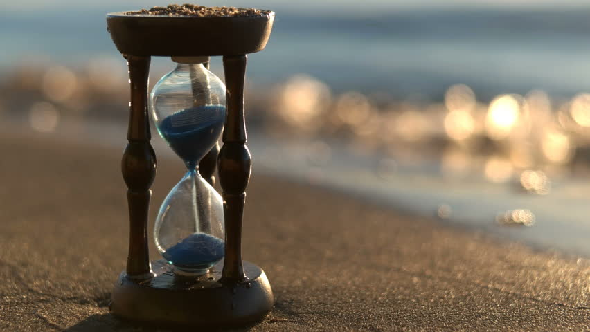 Hourglass On the Beach Sand Stock Footage Video (100% Royalty ...