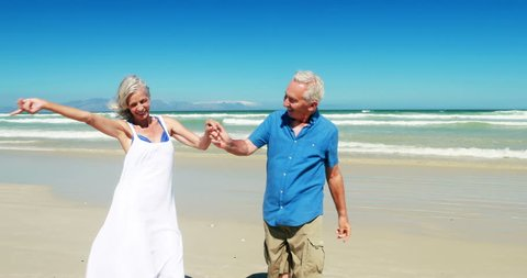 An Older Couple Having Fun Stock Footage Video 100 Royalty Free