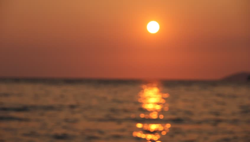 Sun set at the sea