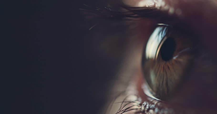 Macro Close-up eye blinking. Slow Motion, 120 fps. Young Woman is opening and closing her beautiful eye. | Shutterstock HD Video #27942112