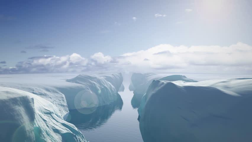 Flying Between Glaciers