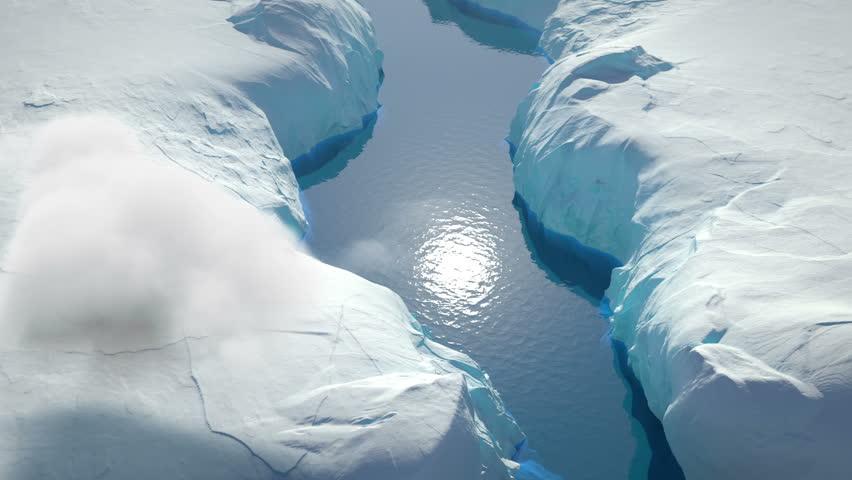 Glaciers Aerial View