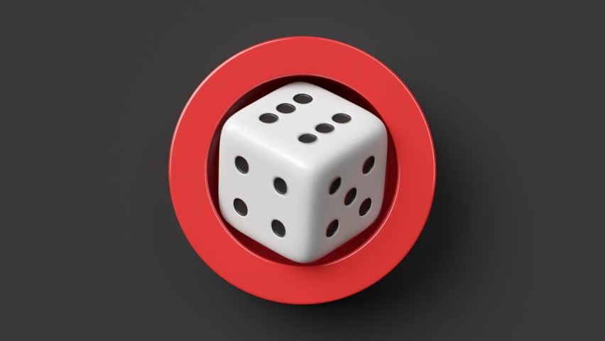 Rolling Dice Loop Animation 3d Stock Footage Video (100% ...