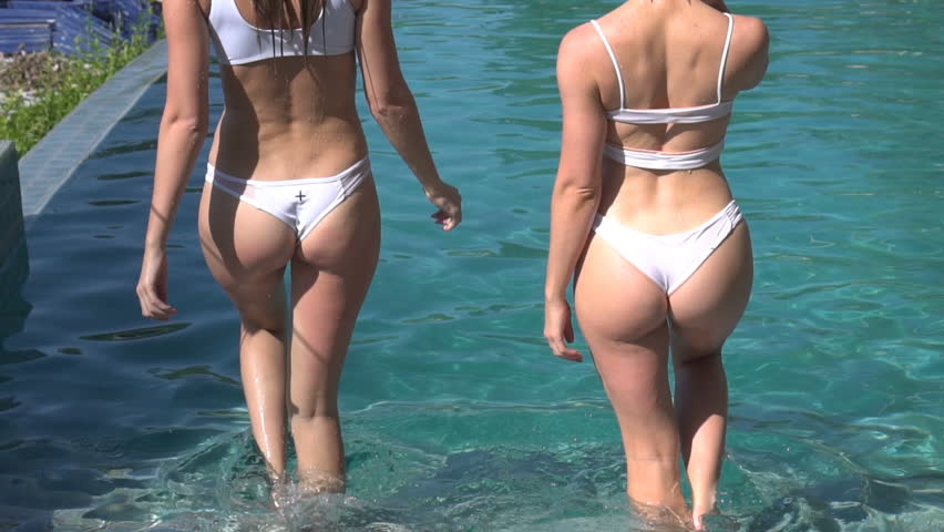 Pool Blondine Babe Bikini Florida Sun