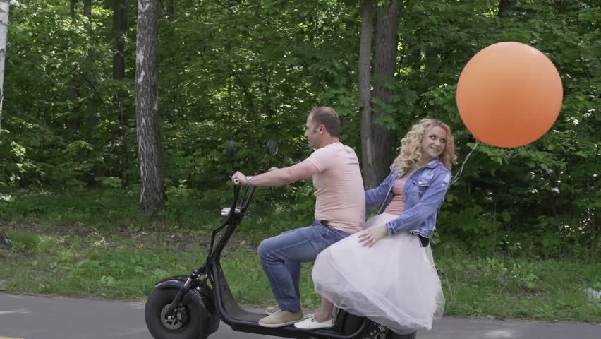 Girl Riding A Guy