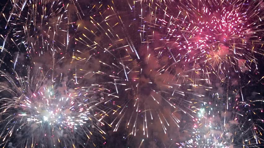 Collage of colorful fireworks exploding in the night sky | Shutterstock HD Video #28001521