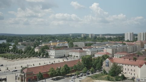 View from the St. Nikolaikirche over Potsdam,famous landmark in Potsdam,Germany,4k.