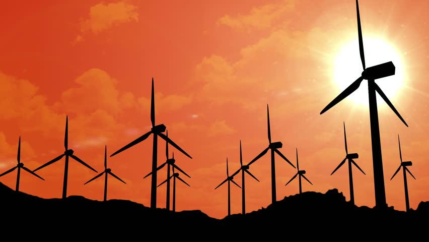 Windmills at sunset | Shutterstock HD Video #2801449