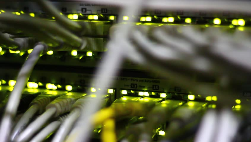 Lights and connections on network server.   Shutterstock HD Video #2803033