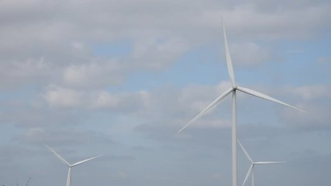 wind turbines rotation,green energy, alternative power