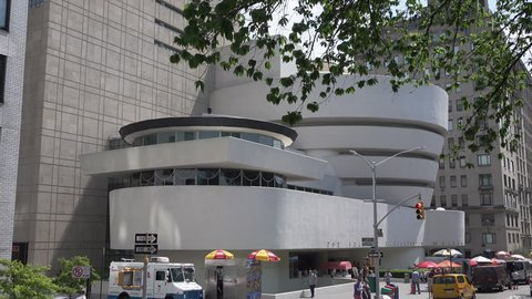 NEW YORK CITY, USA - MAY 19, 2017: Guggenheim Museum. The Solomon R. Guggenheim Museum in New York City was the first Guggenheim Museum established.