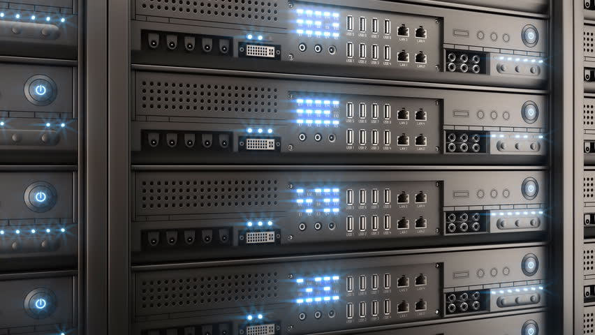 Working data servers with flashing LED lights | Shutterstock HD Video #2808205